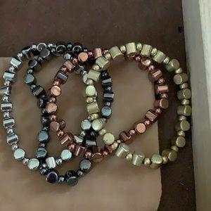 Lia Sophia set of 4 Diversion Stretch Bracelets
